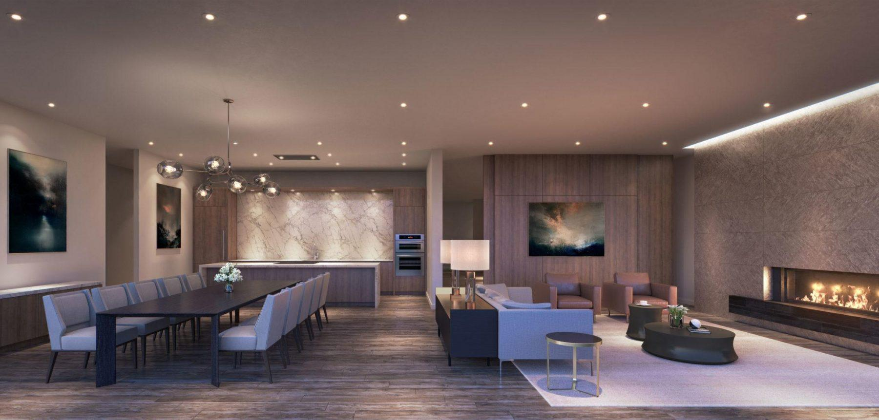 entertainment lounge Rendering At Tanu Condos