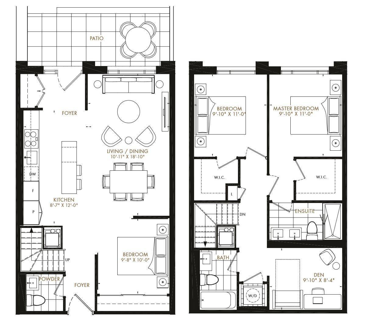 townhome floorplan