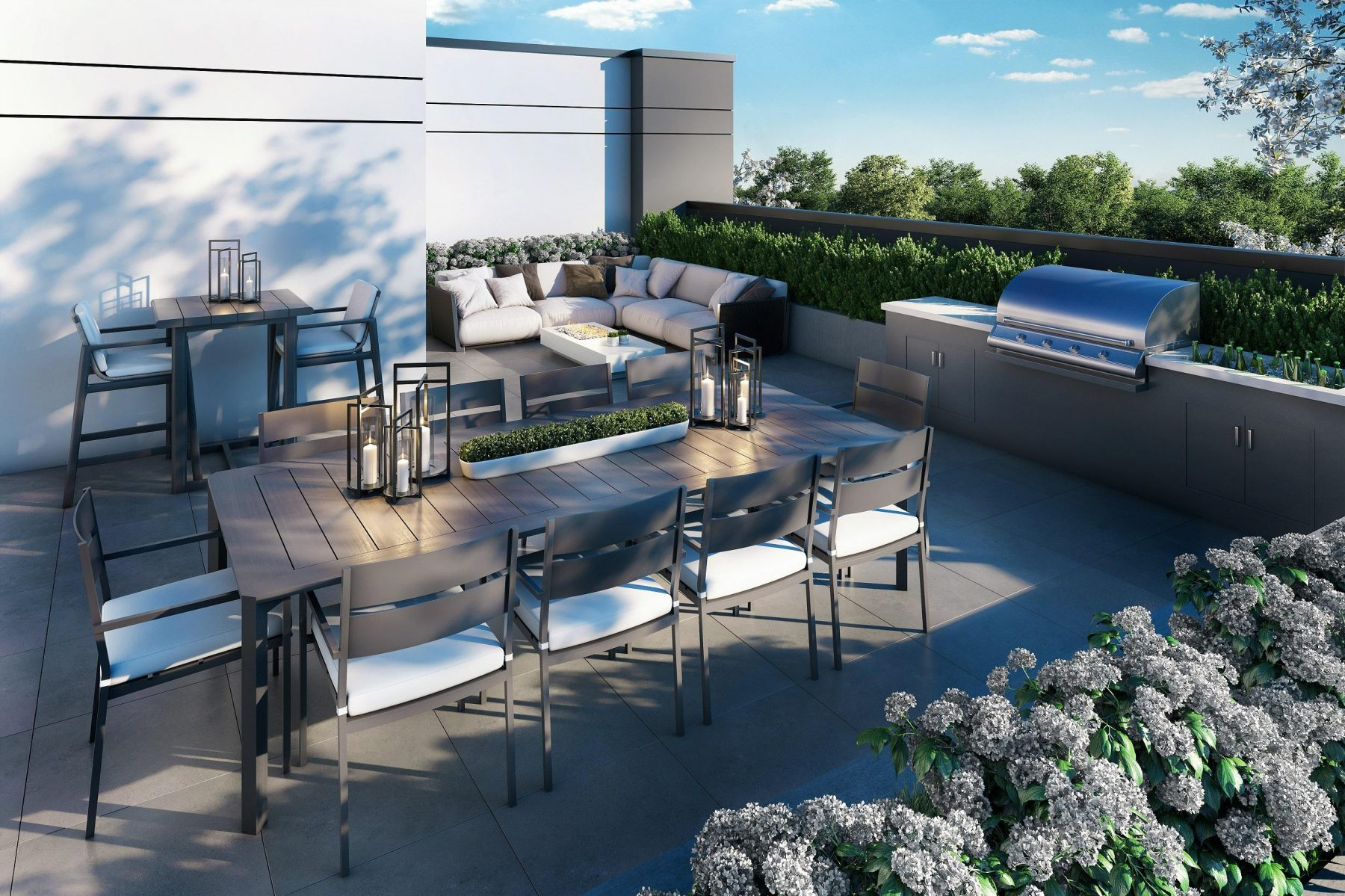 rooftop dining and bbqs
