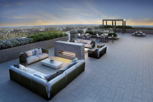 rooftop lounge spaces