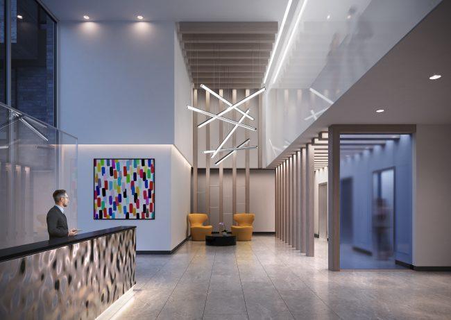 lobby at artform condos