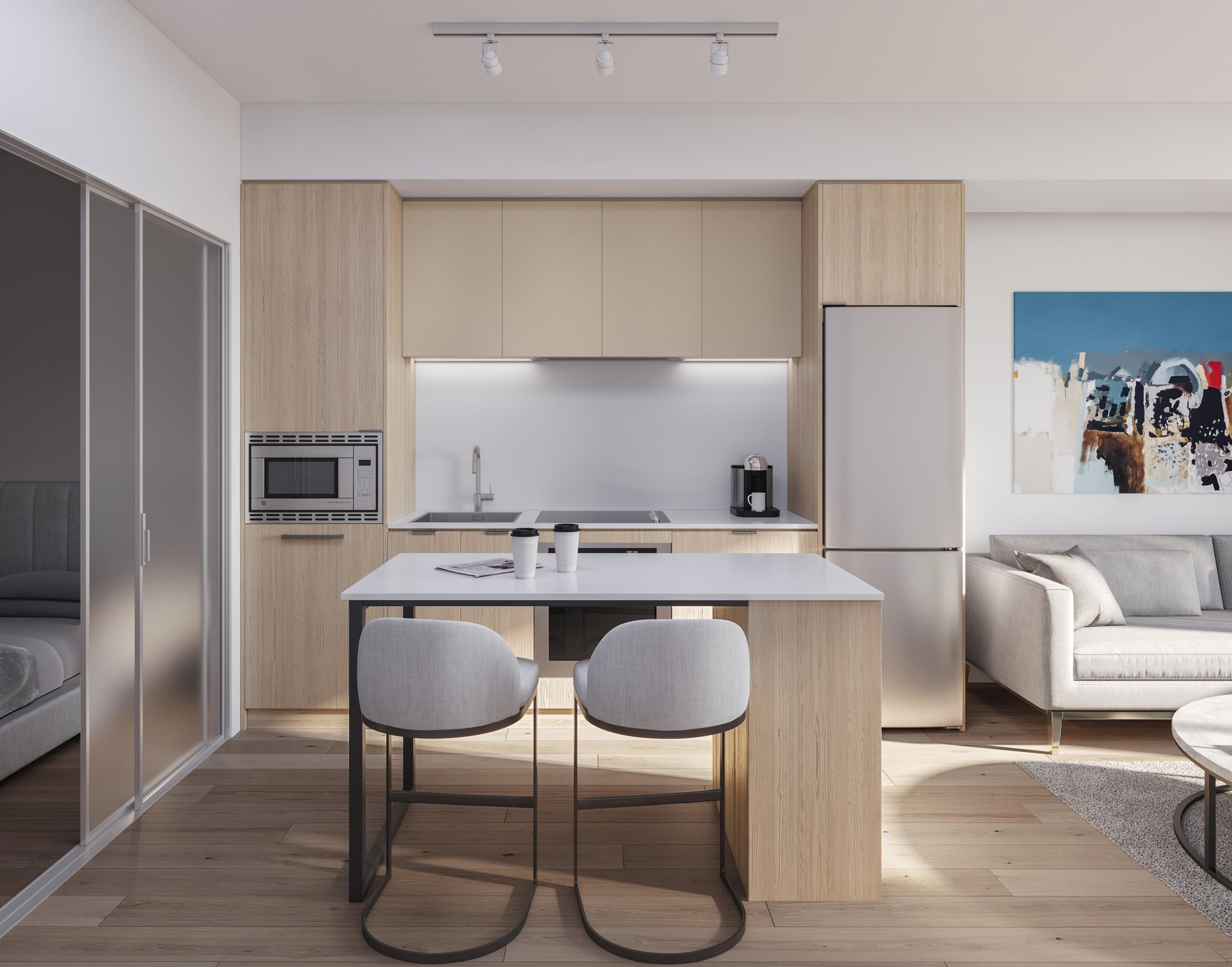 White Kitchen Rendering