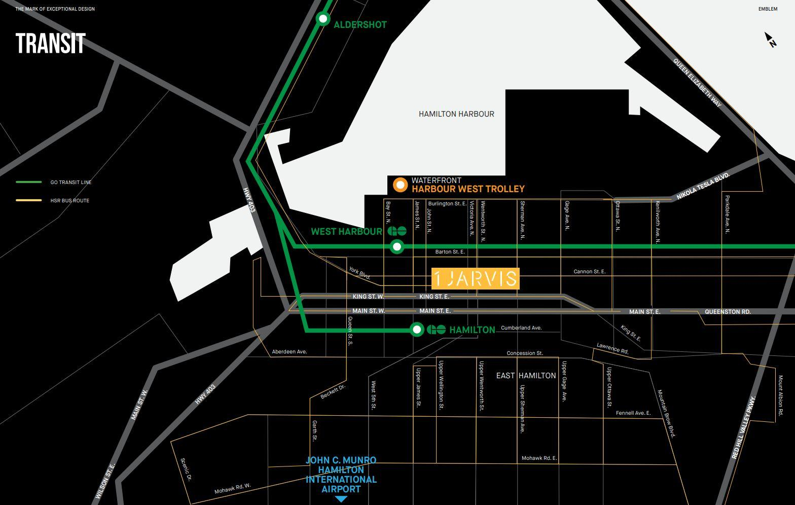 local Transit map