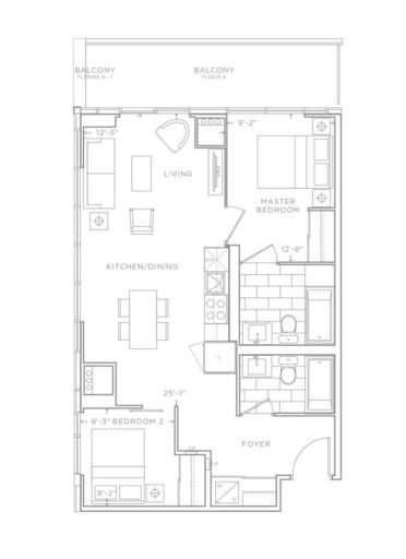 Valera Condos Sample Floor Plan