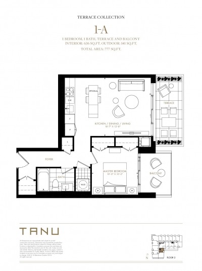 1 Bedroom Terrace Floor Plan