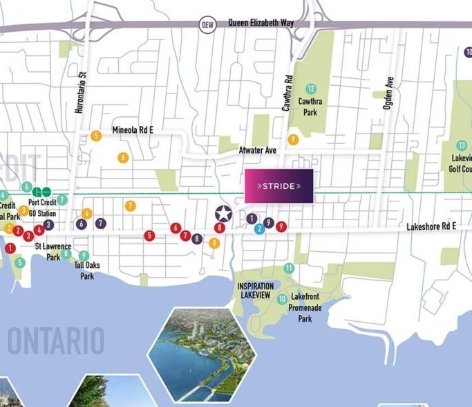 Stride towns map