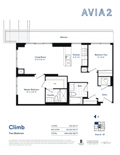 Sample 2 Bedroom Floorplan