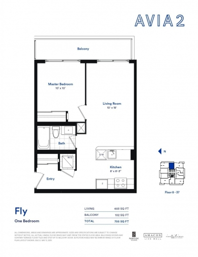 Sample 1 Bedroom Floorplan